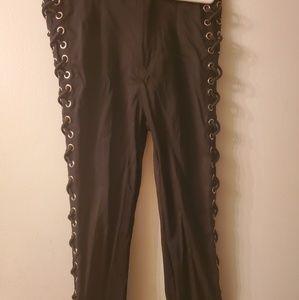 Fashion Nova side lace up pants